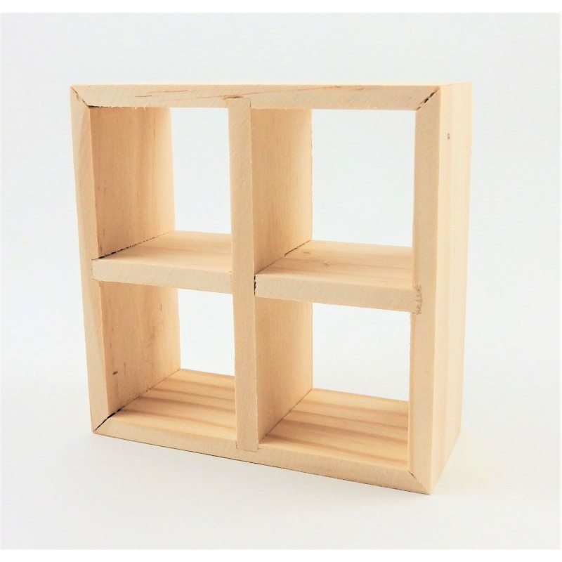 Dolls House 4 Cube Display Unit Modern Display Shelves Miniature