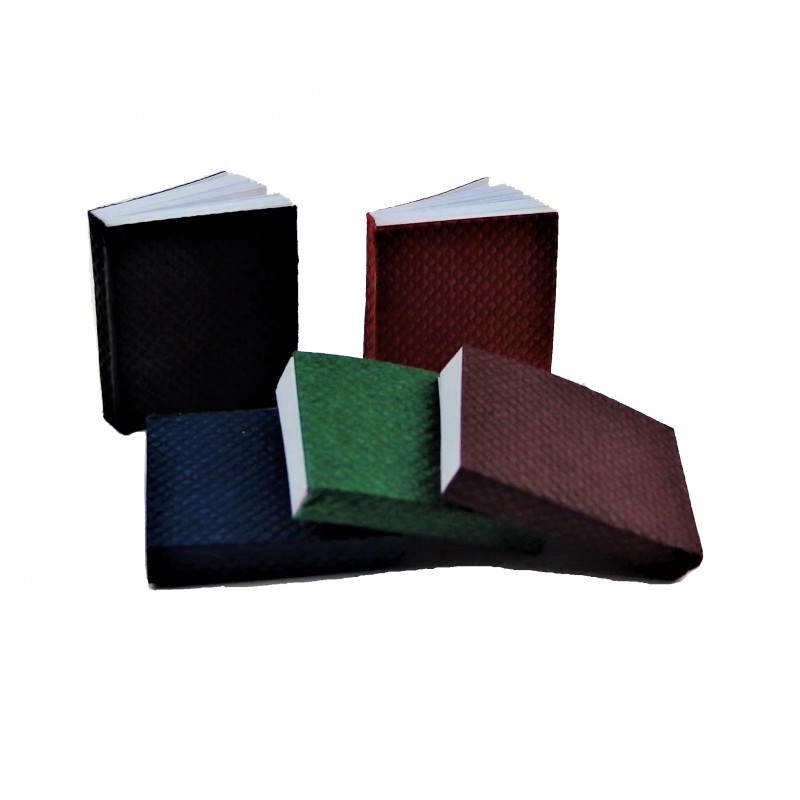 Dolls House 5 Bound Books with Pages Study School Library Accessory