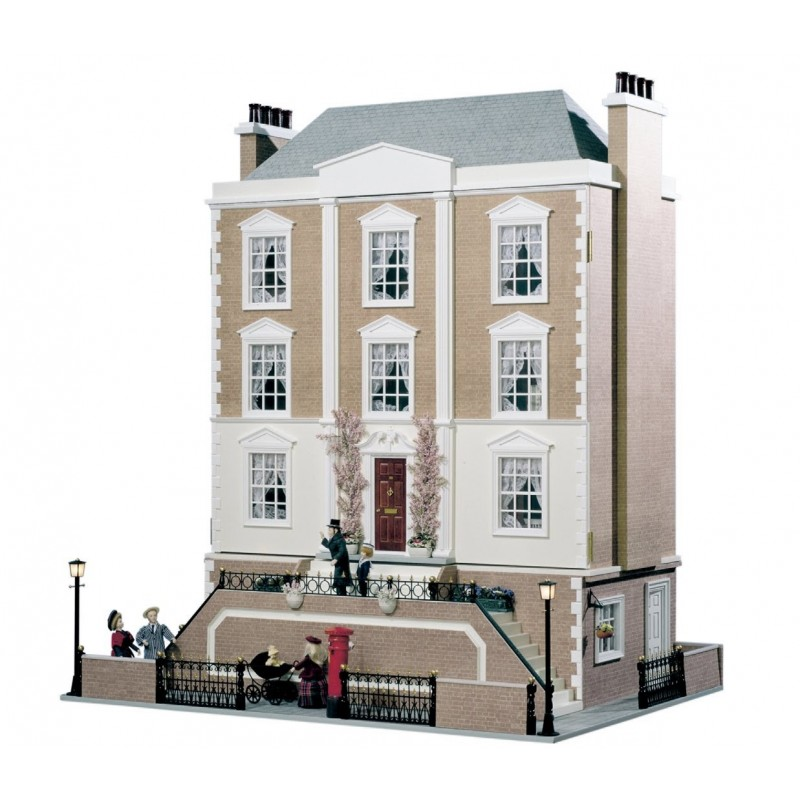 Montgomery Hall Dolls House & Basement Unpainted Flat Pack Kit 1:12 Scale