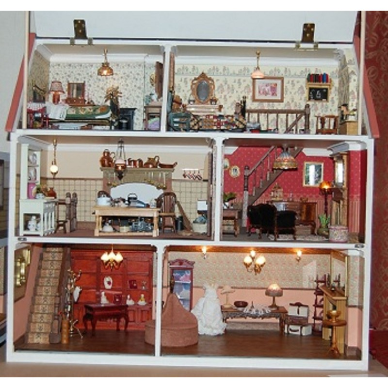 Magpies Dolls House Victorian Shop Pub Cafe Unpainted Flat Pack Kit 1:12 Scale
