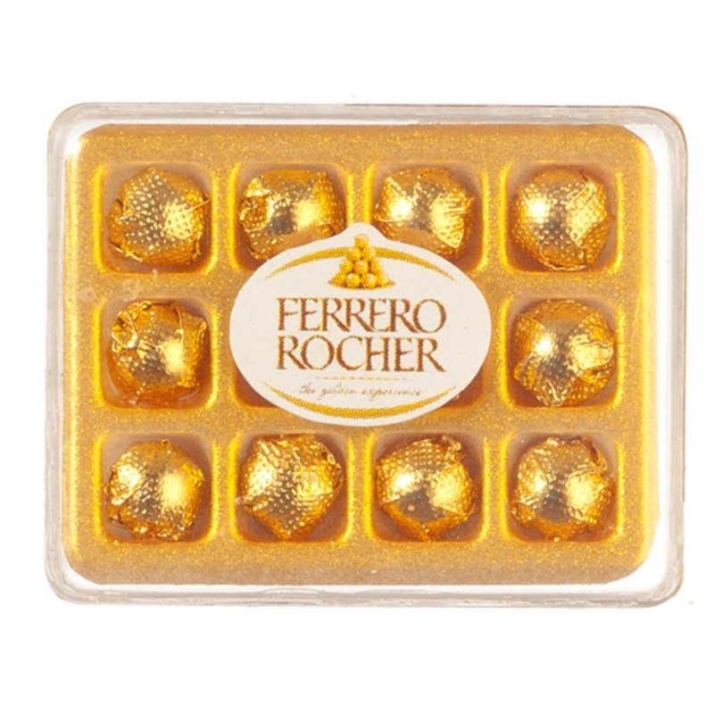 Dolls House Box of Rocher Chocolates Miniature 1:12 Scale Accessory