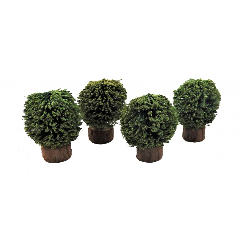 Dolls House Set of 4 Shrubs Bushes Miniature 1:12 Garden Accessory