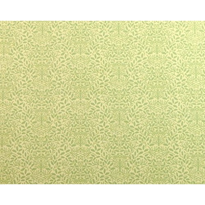 Dolls House Green Cream Acorns Wallpaper Miniature Print 1:12 Scale