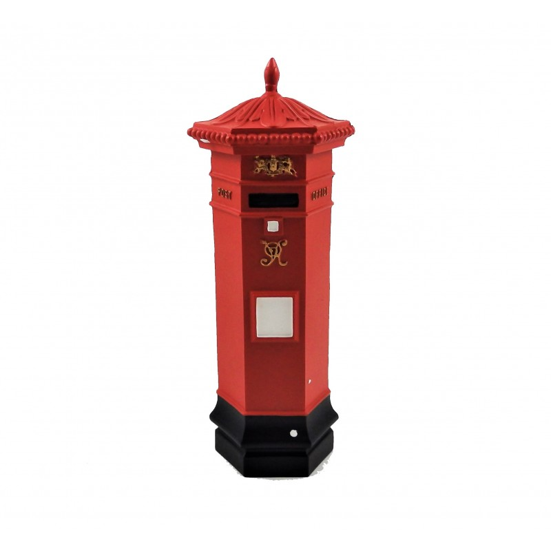 Dolls House Victorian British Post Office Letter Mail Box 1:12 Red