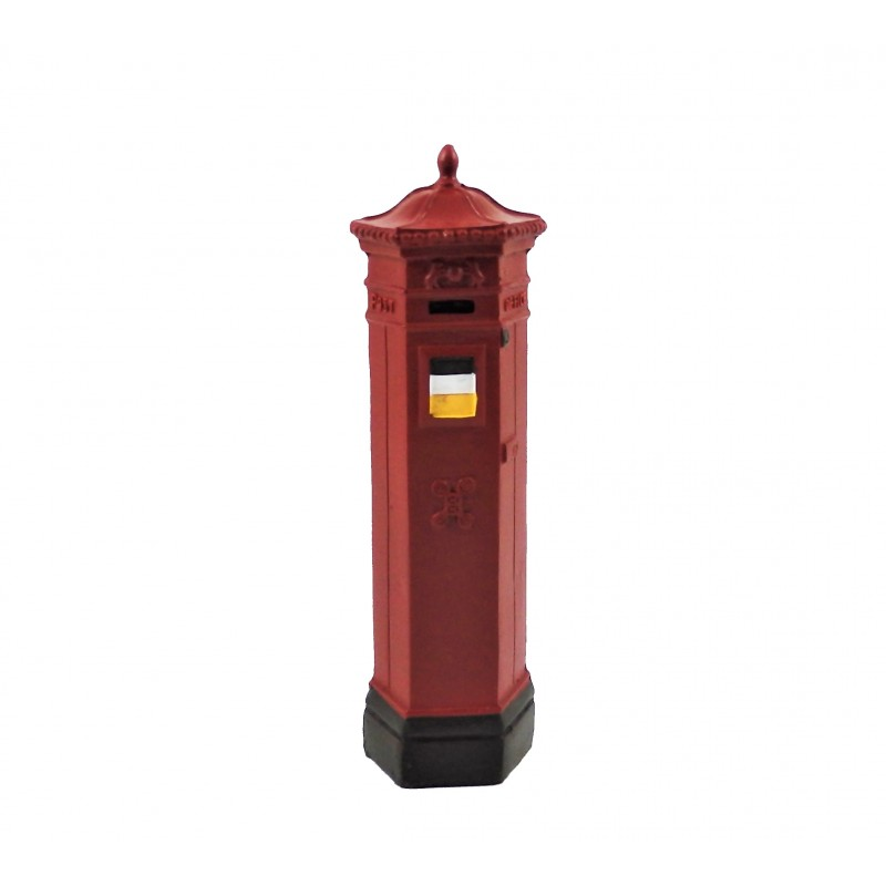 Dolls House Victorian British Post Office Letter Mail Pillar Box Red
