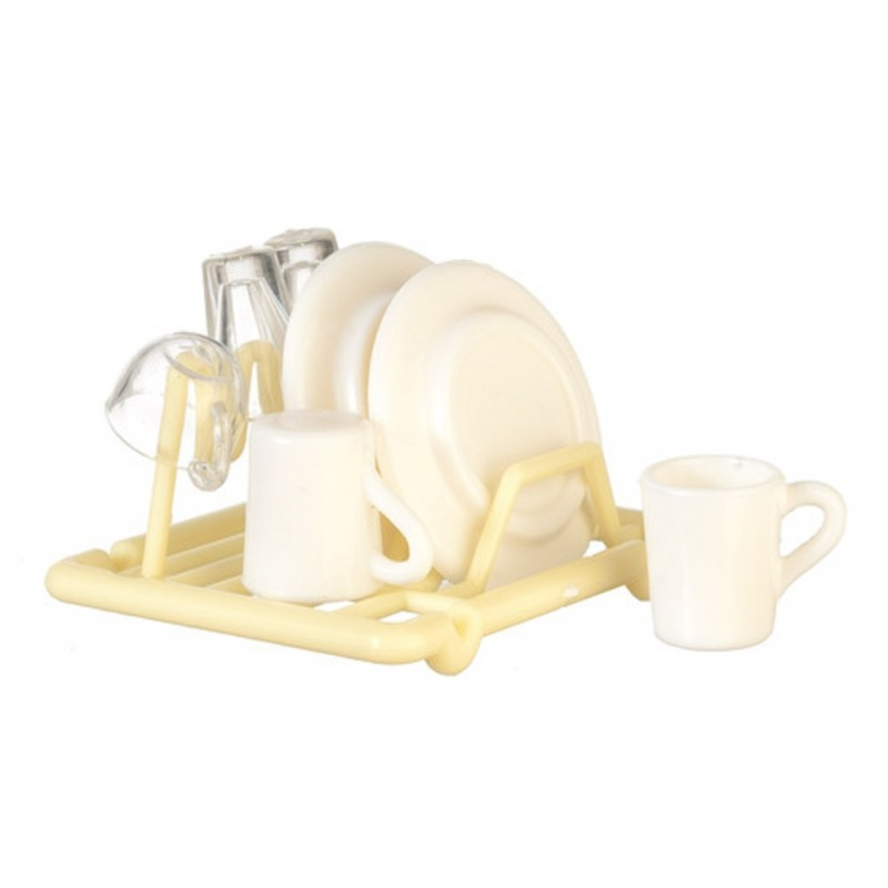 Dolls House Dish Drainer & Washing Up Miniature Kitchen Accessory