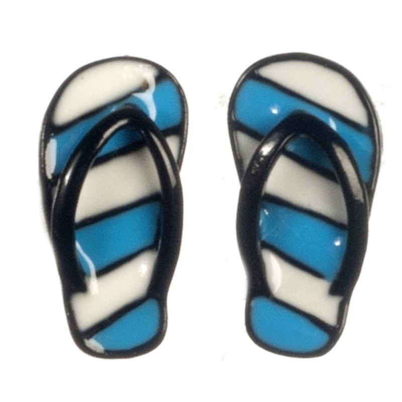 Dolls House Flip Flops Summer Beach Accessory Adult Sandals Shoes BL