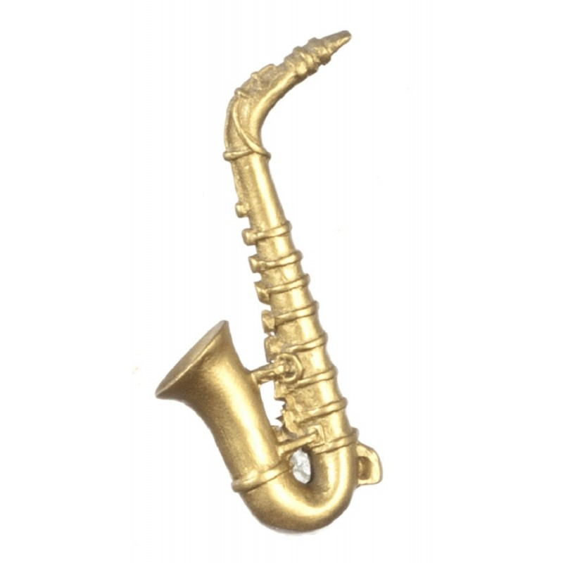 Dolls House Saxophone Miniature 1:12 Scale Music Room Accessory