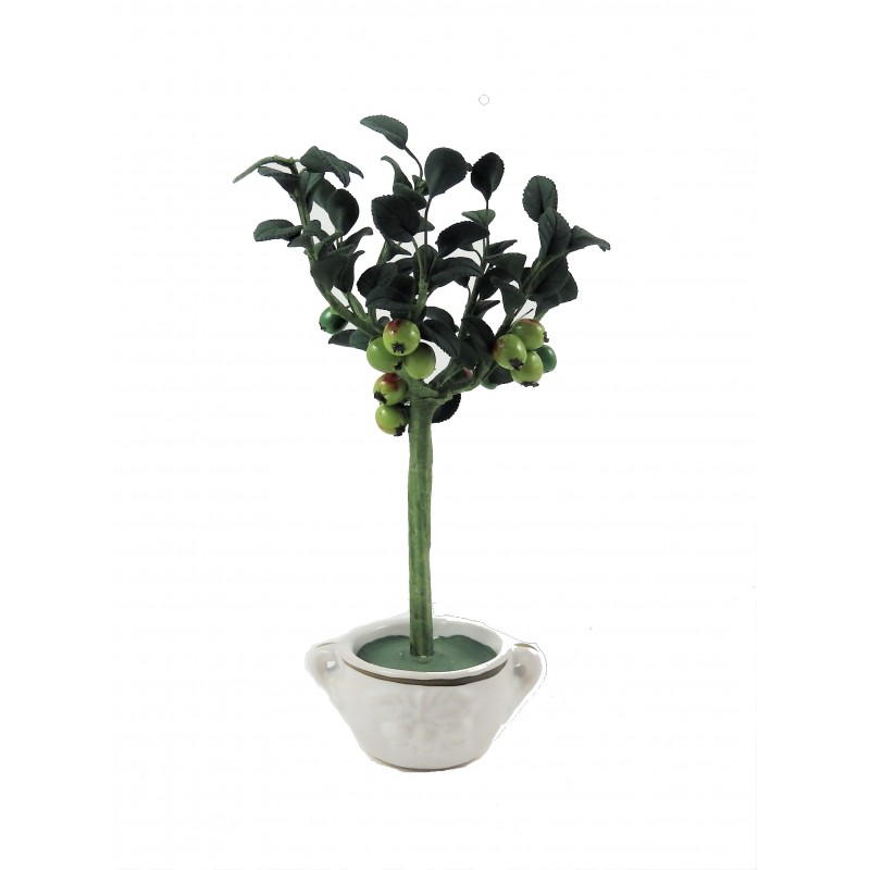 Dolls House Standard Apple Tree in Pot Miniature Garden Accessory
