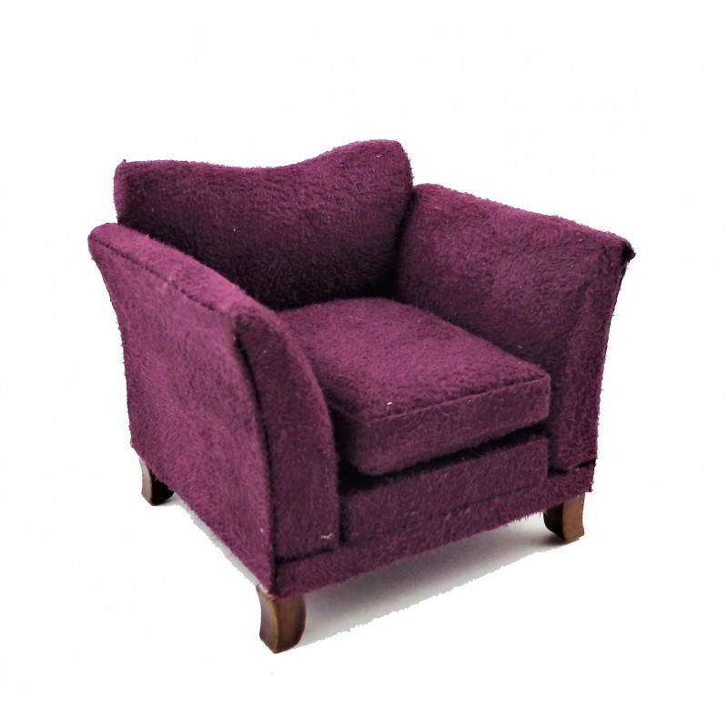 Dolls House Modern Purple Armchair Contemporary Living Furniture