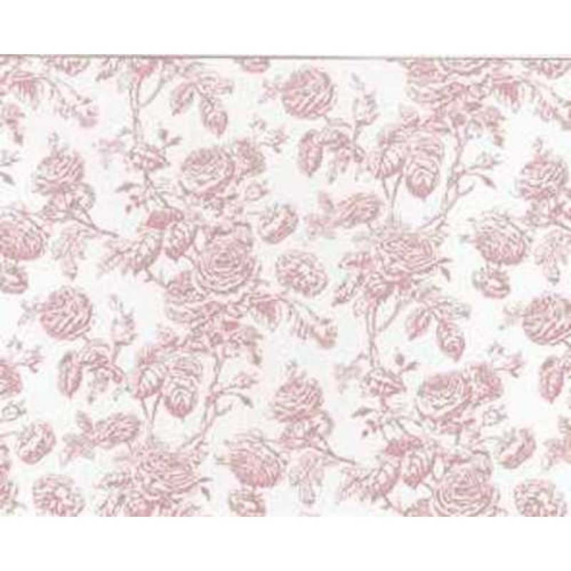 Dolls House Tiffany Rose Miniature Print Wallpaper 3 Sheets