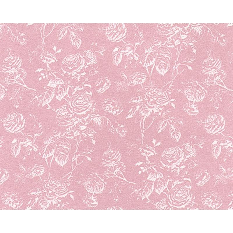 Dolls House Tiffany Reverse Rose Miniature Print Wallpaper 3
