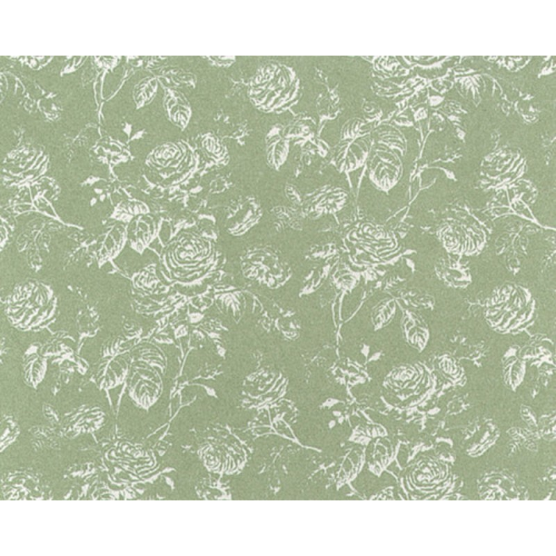 Dolls House Tiffany Reverse Seafoam Miniature Print Wallpaper 3