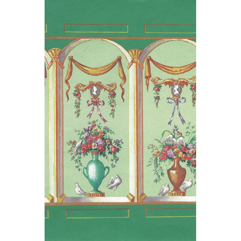 Dolls House French Bouquet Celery Miniature Print Wallpaper 3