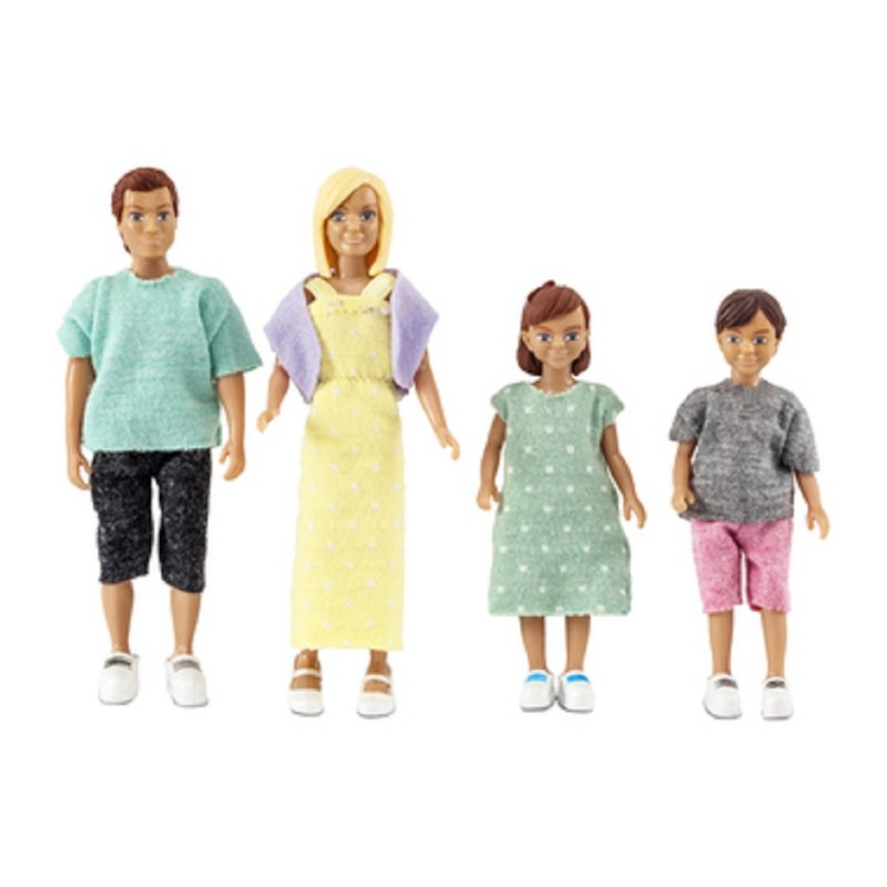 Dolls House Lundby Modern Family Mum Dad with 2 Kids a Boy and Girl