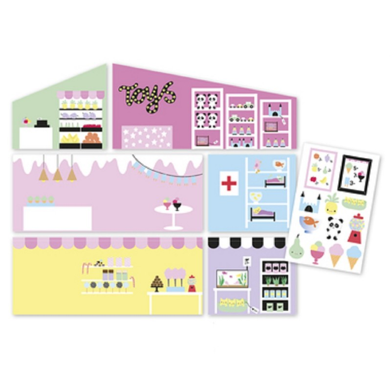 Dolls House Lundby Shop Sticker Sheet Type 3 Creative Doll's House