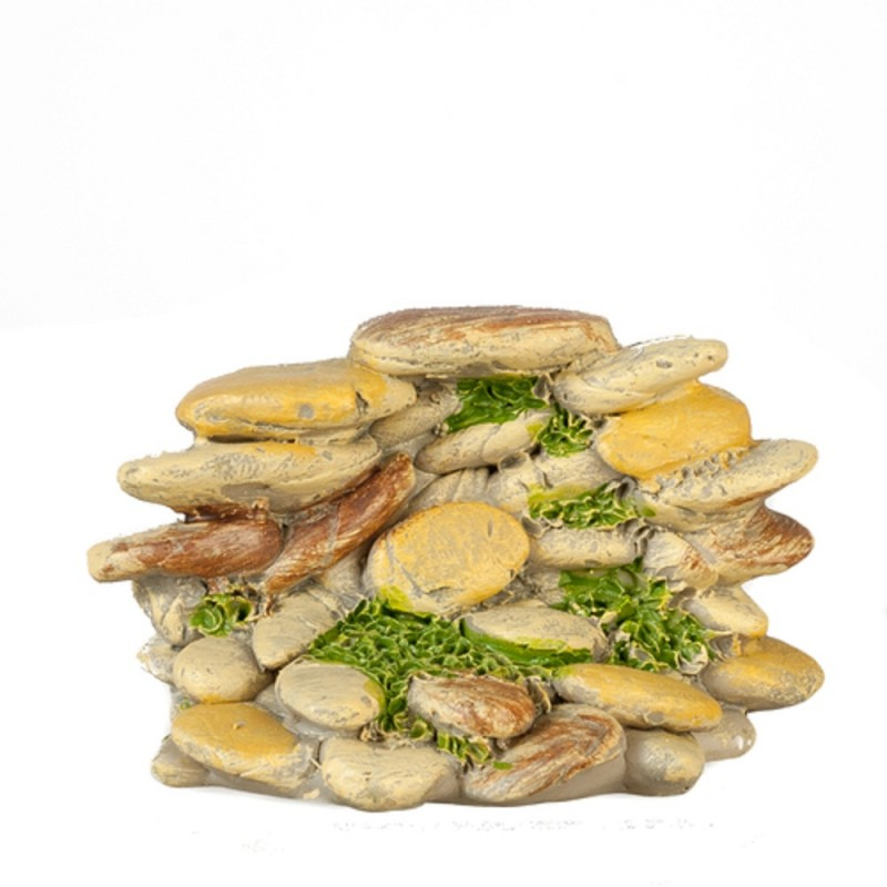 Dolls House Cream Stone Pile Miniature Garden Landscaping Accessory