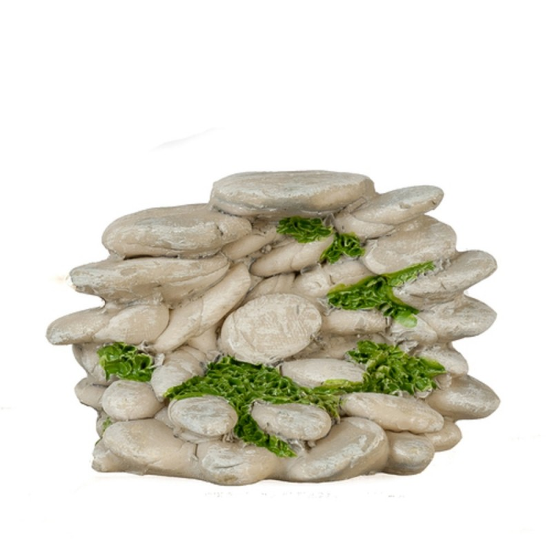 Dolls House Grey Stone Pile Miniature Garden Landscaping Accessory