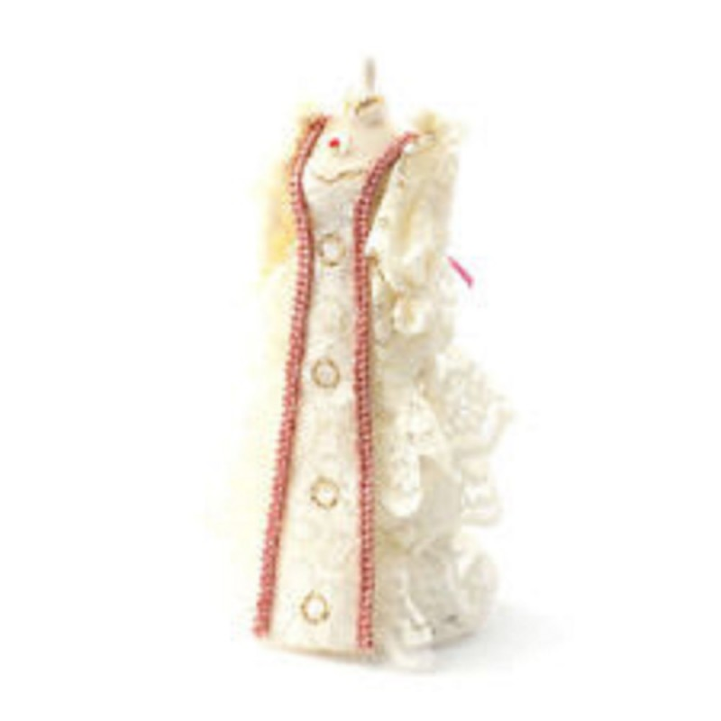 Dolls House Cream Lace Dress on Mannequin Shop Sewing Accessory