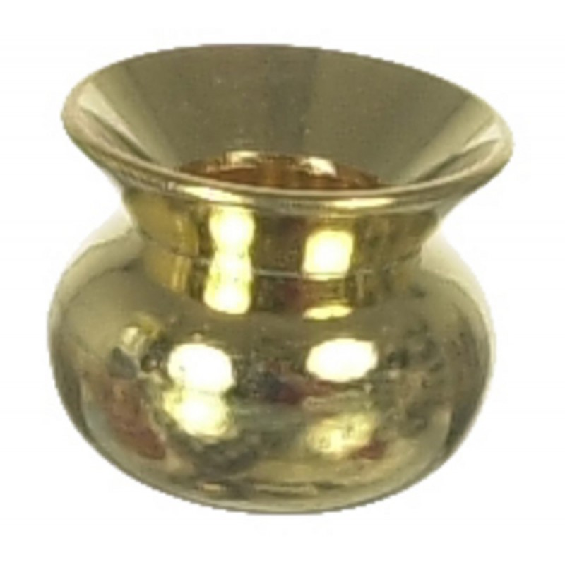 Dolls House Miniature Pub Accessory Brass Spittoon