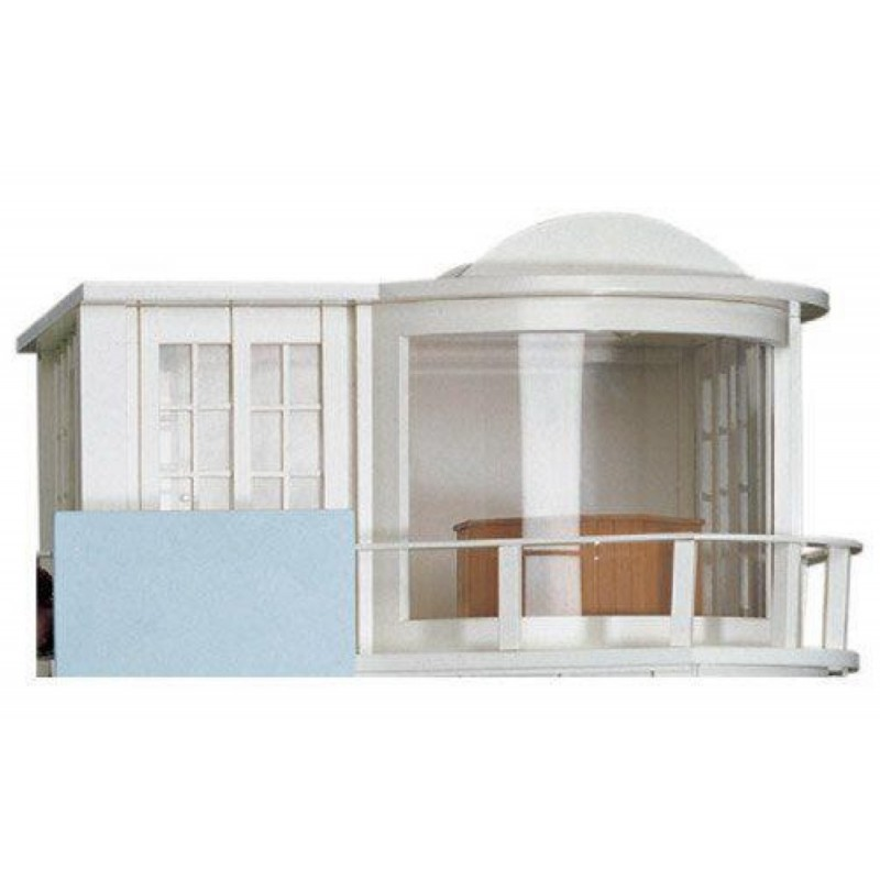 Dolls House Malibu Sun Lounge Modern Art Deco Kit Unpainted Flat Pack 1:12 Scale