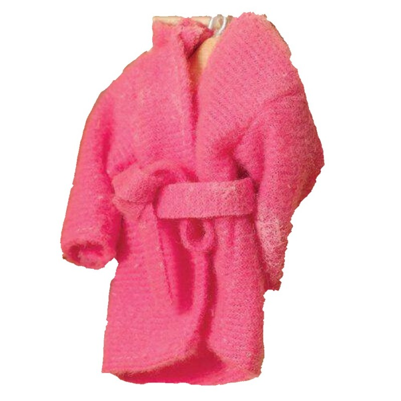 Dolls House Deep Pink Dressing Gown Bath Robe 1:12 Bedroom Accessory