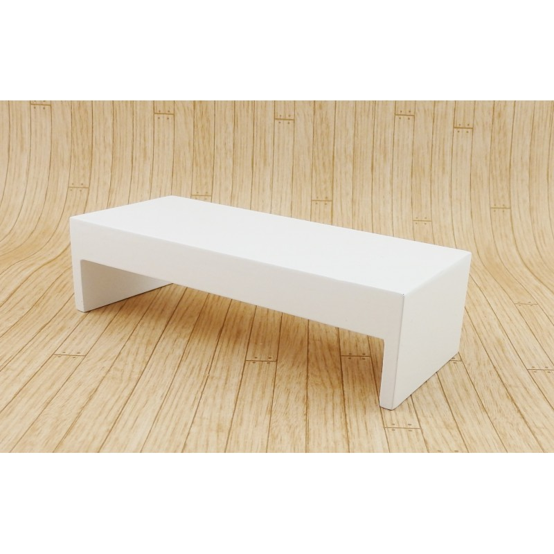 Dolls House Modern White Coffee Table Contemporary 1:12 Furniture