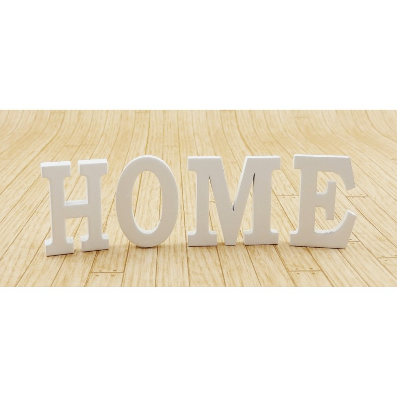 Dolls House White HOME Letters Modern Miniature Ornament Accessory