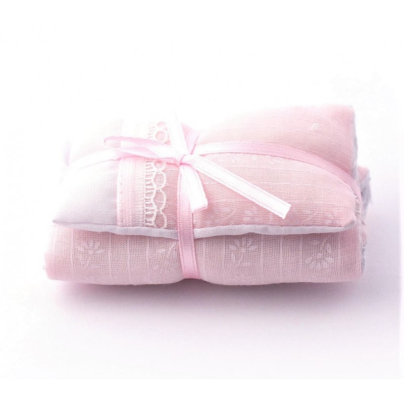 Dolls House Pink Single Bedding Set 1:12 Miniature Bedroom Accessory