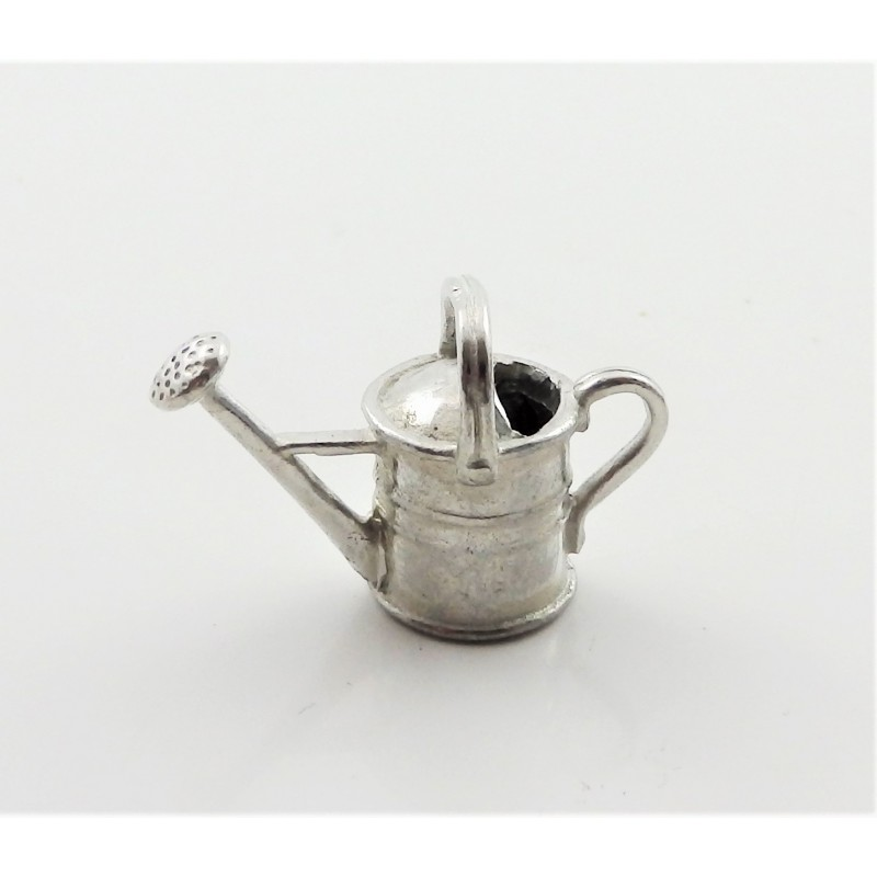 Dolls House Pewter Watering Can Half Inch 1:24 Scale Garden Accessory