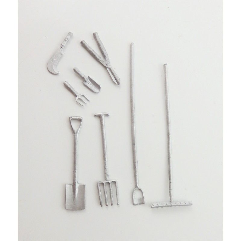 Dolls House Garden Tool Assortment Half Inch 1:24 Scale Accessory
