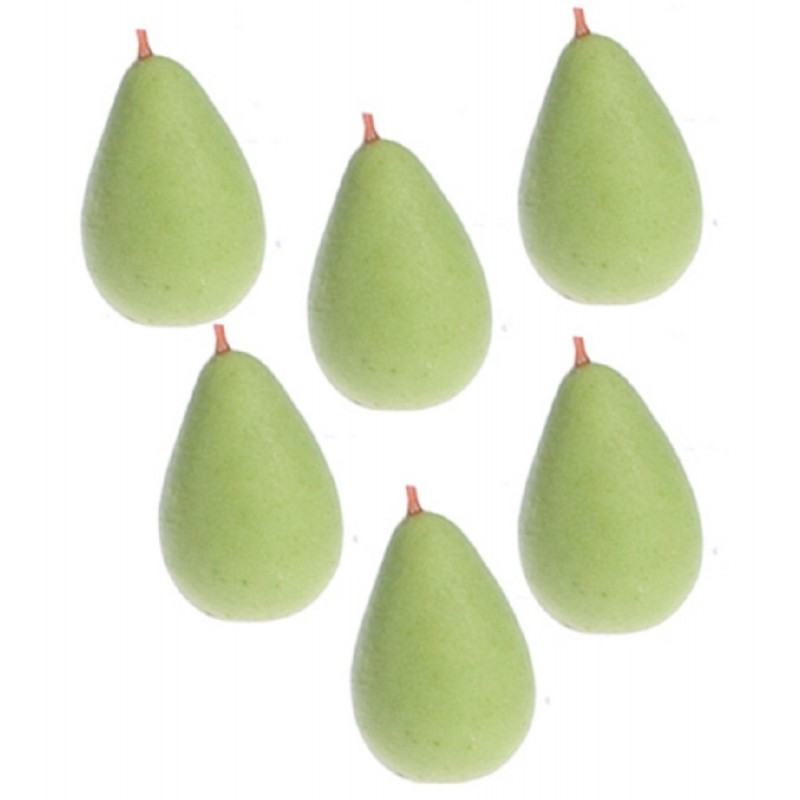 Dolls House Green Pears Miniature  Fruit Kitchen Garden Greengrocers Accessory