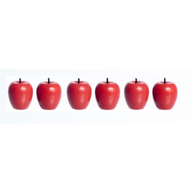 5 Miniature Dollhouse Baskets with 5 different kinds of Apples for your garden