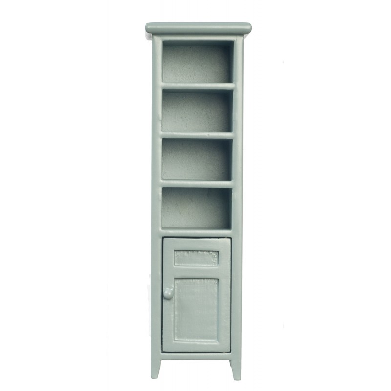 Dolls House Tall Slim Grey Space Saver Bathroom Cabinet MINIATURE Furniture