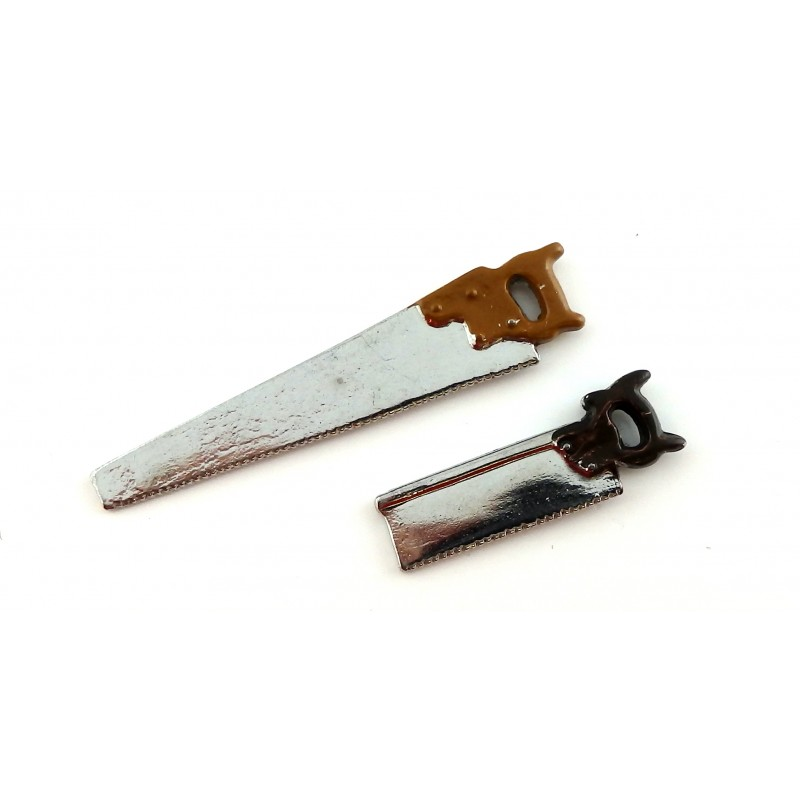 Dolls House Wood Saws Garden Shed Garage Accessory Work Tools 1:12