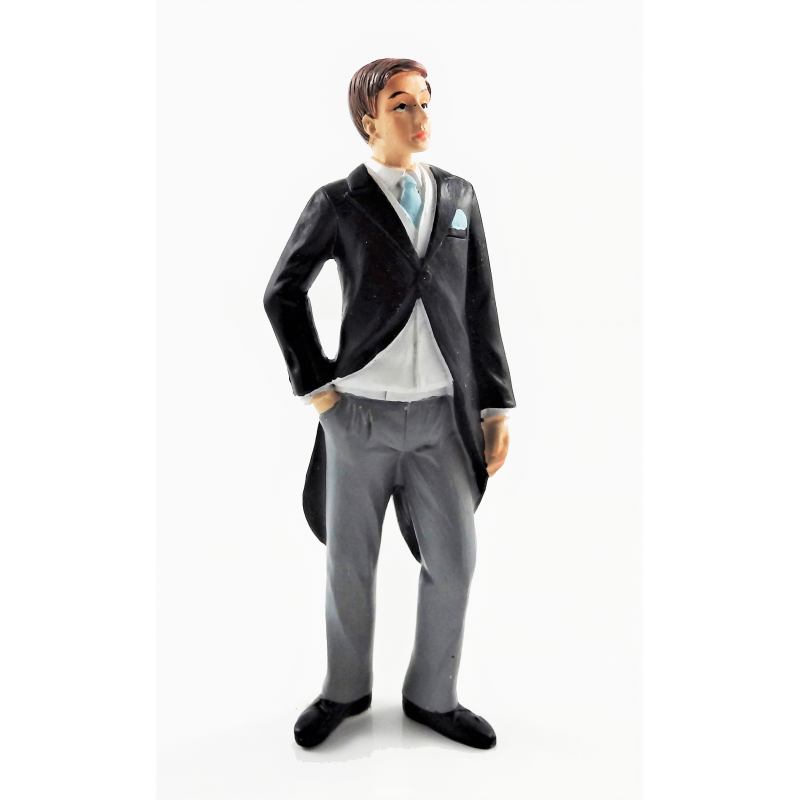 Dolls House Groom in Tails Resin Man Wedding Figure People