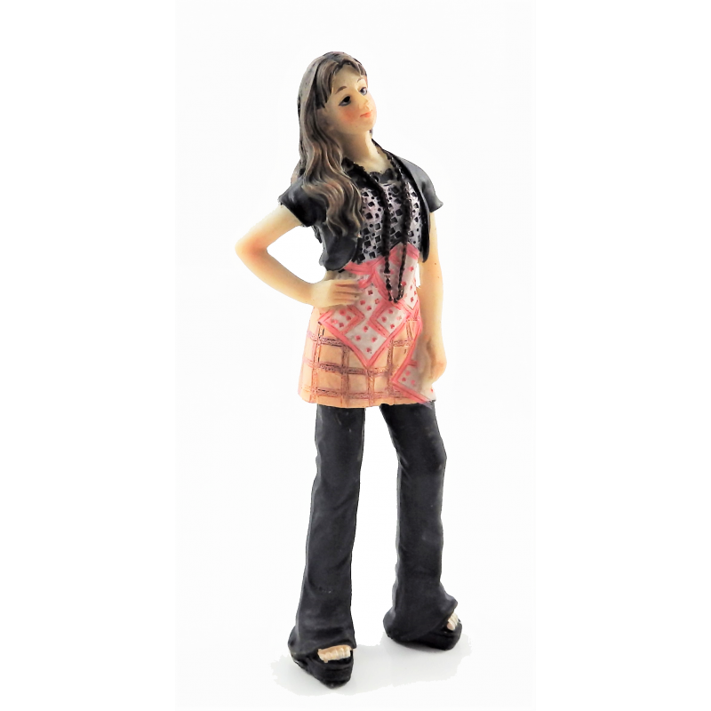 Dolls House People Modern Young Girl Teenager Resin Figure
