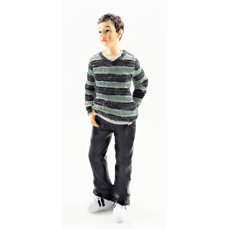 Dolls House People Modern Young Boy Teenager Resin Figure