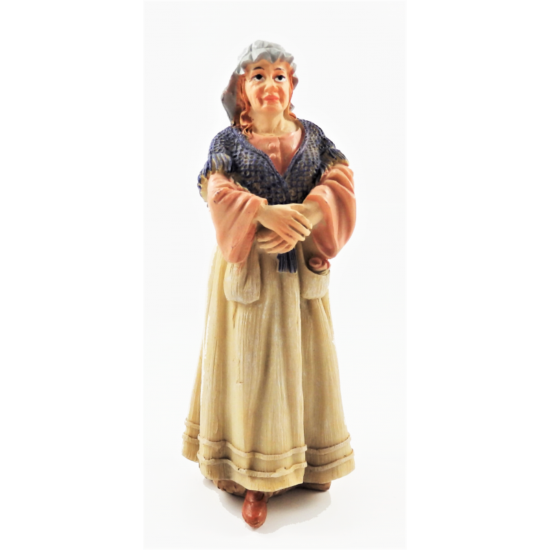 Dolls House People Peasant Woman in Shawl 1:12 Resin Figure