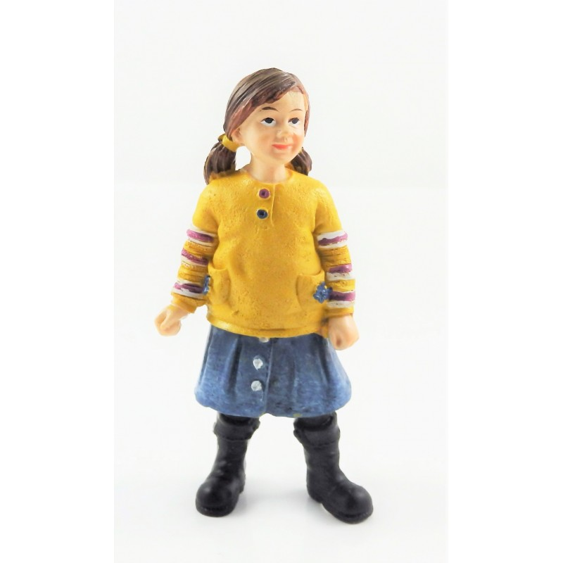 Dolls House People Modern Girl in Boots 1:12 Scale Resin Figure