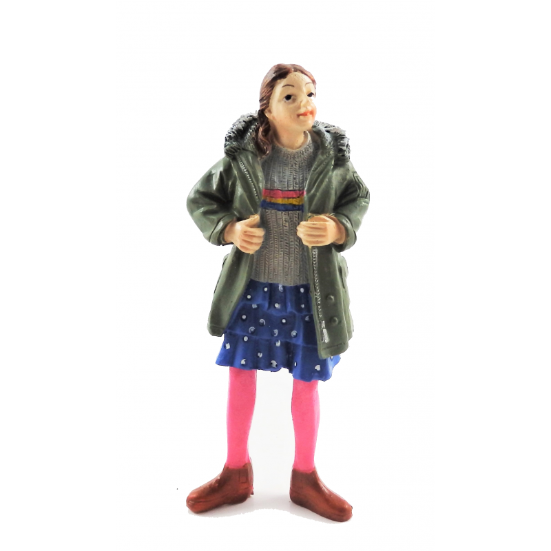 Dolls House People Modern Girl in Parka 1:12 Scale Resin Figure