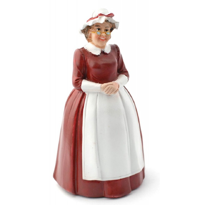 Dolls House Mother Christmas Mrs Santa Claus Miniature 1:12 People Resin Figure