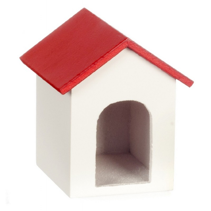 Dolls House Dog Kennel Miniature 1:12 Scale Pet Garden Accessory