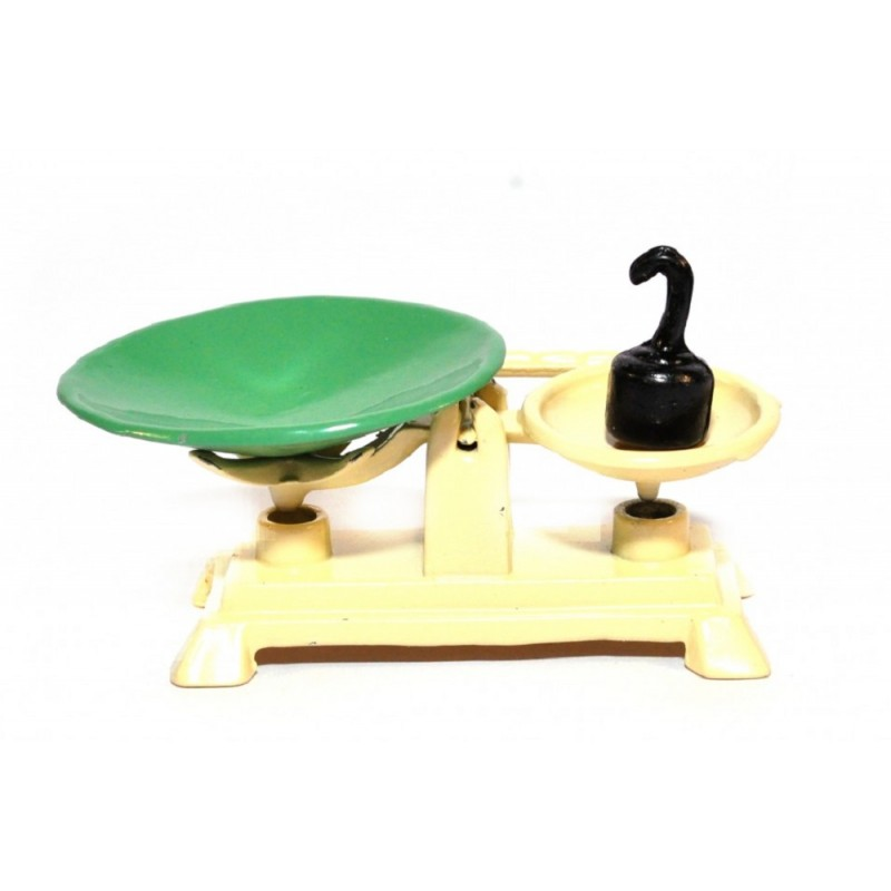Dolls House Country Store Weighing Scales Cream Old Fashioned Shop Accessory
