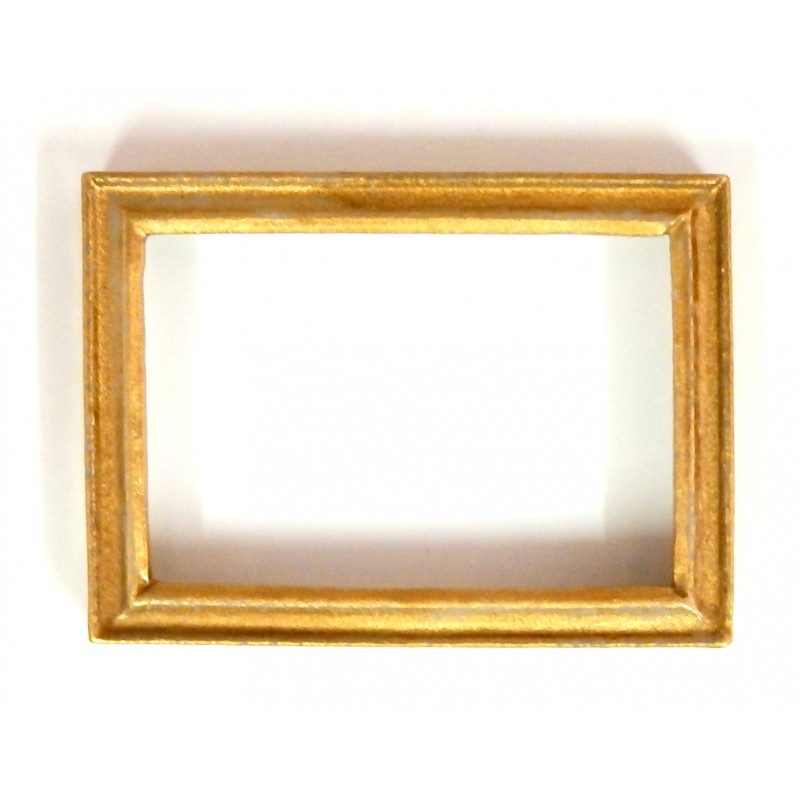 Dolls House Accessory Empty Gold Picture Painting Frame Med