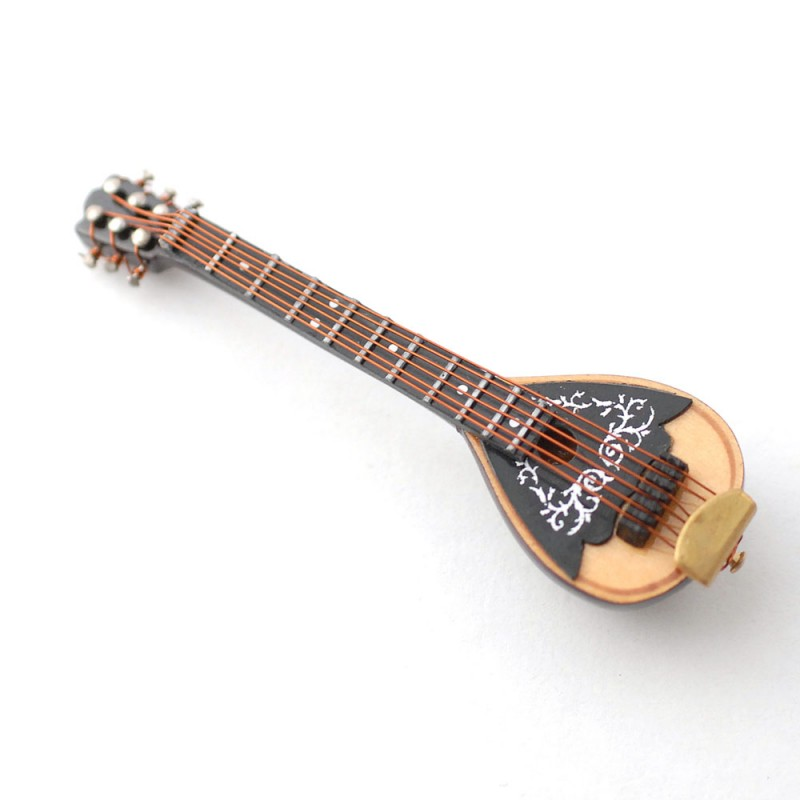 Dolls House Mandolin Miniature Music Room Bar School Instrument