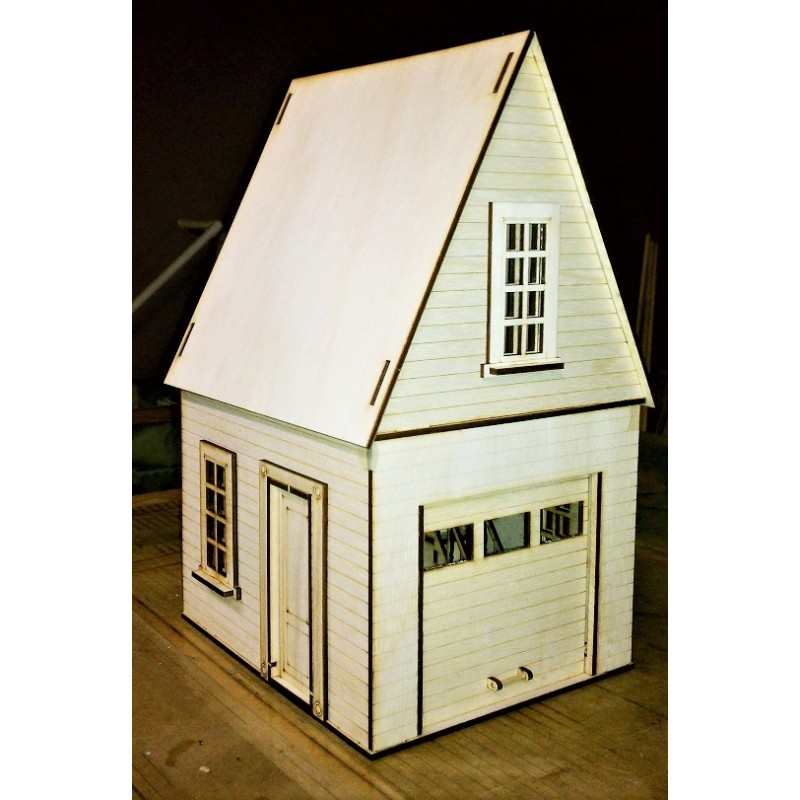 Dolls House Garage Workshop  Flat Pack Kit Laser Cut