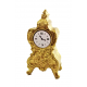 Dolls House Gold Mantle Clock Miniature Accessory