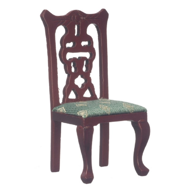 Dolls House Miniature 1:12 Scale Wooden Furniture Mahogany Dining Side Chair