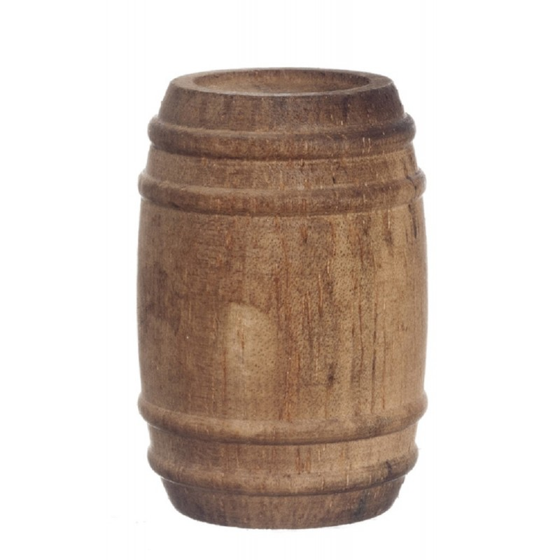 Dolls House Miniature 1:12 Scale Pub Bar Accessory Wooden Wine Beer Barrel